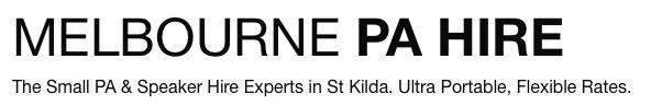 Melbourne PA Hire Logo